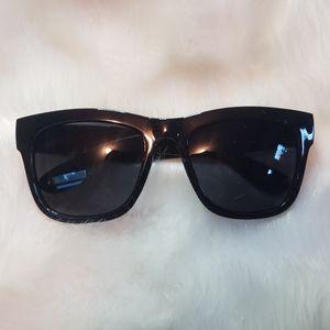 Black 1980s Style Sunglasses